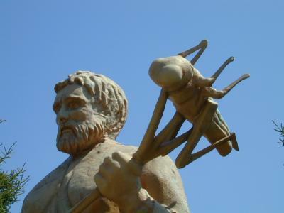 St. Urho & Grasshopper